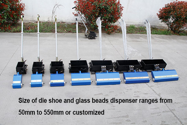 road marking die shoe size