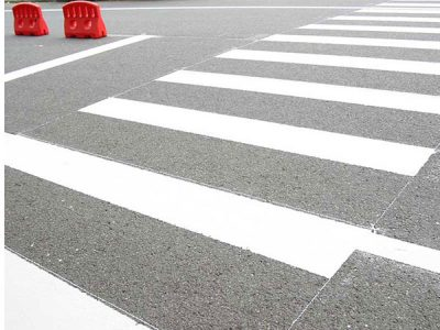 How to mark zebra crossing line?