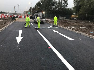 Thermoplastic Road Marking Project in Sri-Lanka