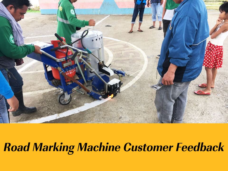 RS-1B & RS-4 Road Marking Machine Customer Feedback in Philippines